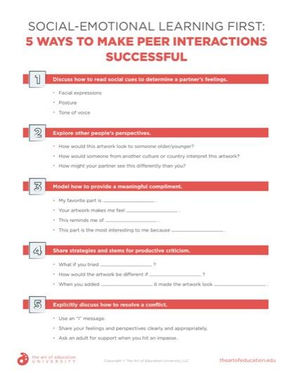 https://artofed-uploads-prod.nyc3.cdn.digitaloceanspaces.com/2021/08/Social-Emotional-Learning-First-5-Waysto-Make-Peer-Interactions-Successful.pdf