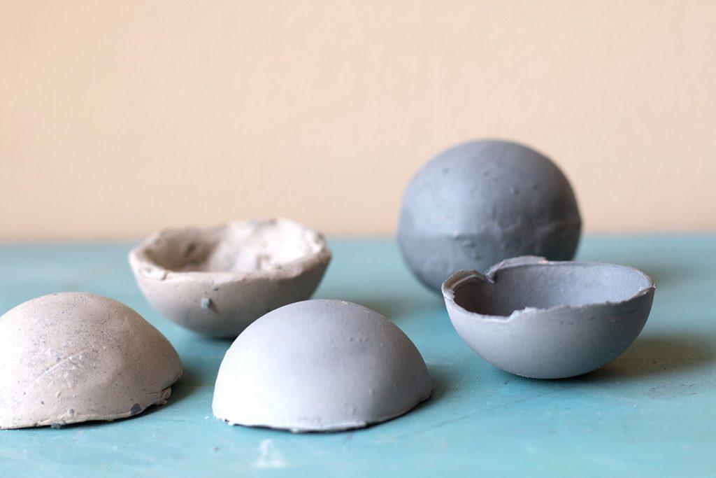 ceramic half spheres