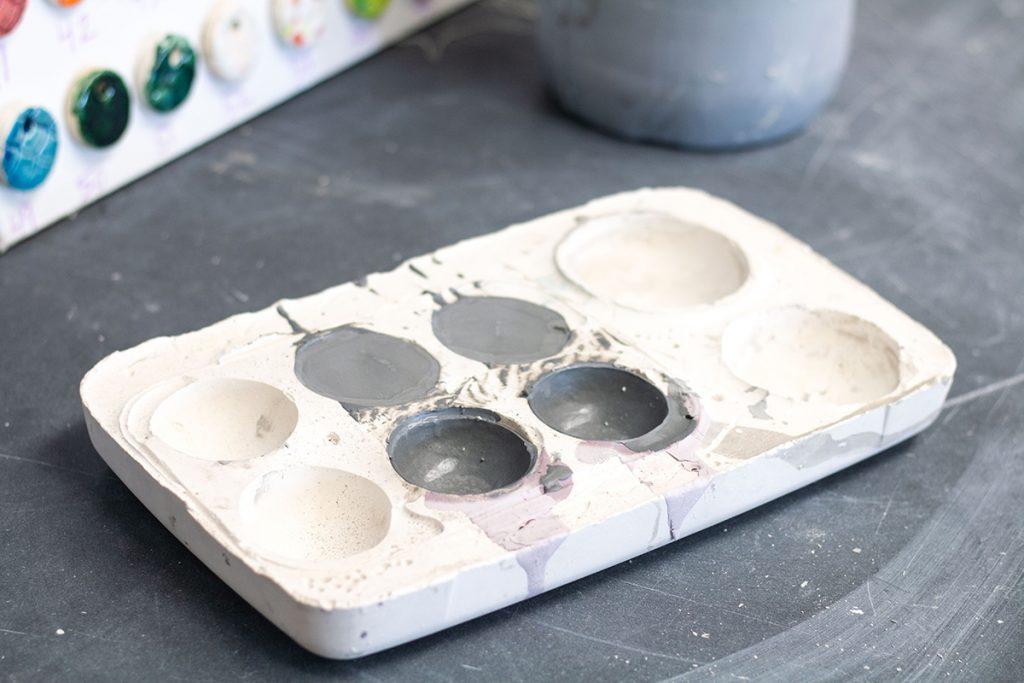 plaster mold half sphere